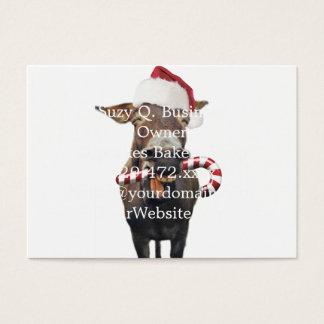 Christmas donkey - santa donkey - donkey santa business card