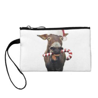 Christmas donkey - santa donkey - donkey santa coin purse