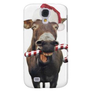 Christmas donkey - santa donkey - donkey santa galaxy s4 cover