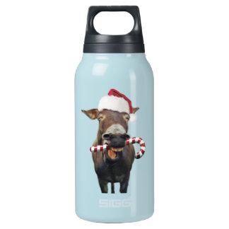 Christmas donkey - santa donkey - donkey santa insulated water bottle