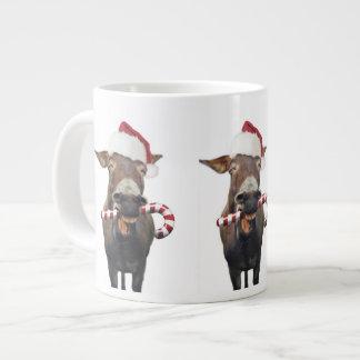 Christmas donkey - santa donkey - donkey santa large coffee mug