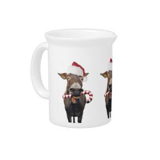 Christmas donkey - santa donkey - donkey santa pitcher