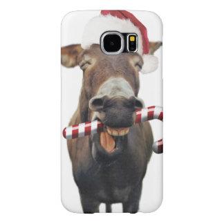Christmas donkey - santa donkey - donkey santa samsung galaxy s6 cases