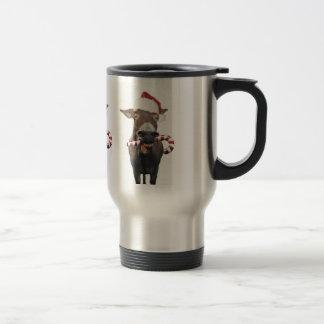 Christmas donkey - santa donkey - donkey santa travel mug