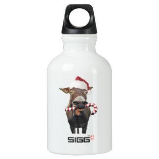 Christmas donkey - santa donkey - donkey santa water bottle