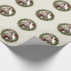 Christmas Donkey Santa Wreath Wrapping Paper
