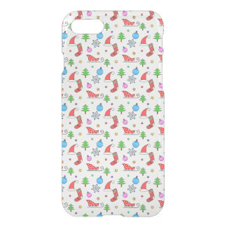 Christmas doodle elements pattern iPhone 7 case