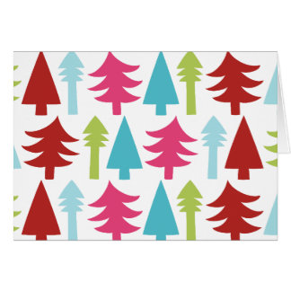 Christmas doodle trees note card