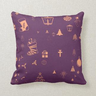 Christmas doodles cushion