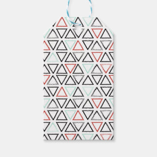 Christmas doodles triangle geometric pattern