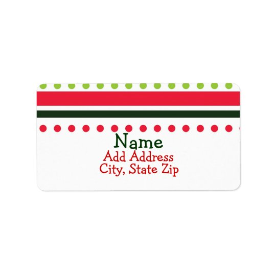 Christmas Dots Address Labels