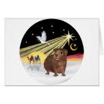 Christmas Dove - Guinea Pig 3 Greeting Card