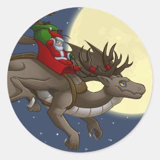 Christmas Dragon Sticker