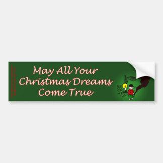 Christmas Dreams Bumper Sticker