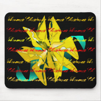 Christmas Dreams In Gold Poinsettia I Mousepads