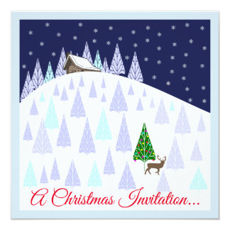 Christmas Drinks and Canapes  Invitation