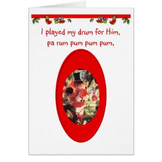 Christmas Drummer Boy Card