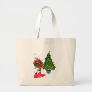 Christmas Duck Tote Bag