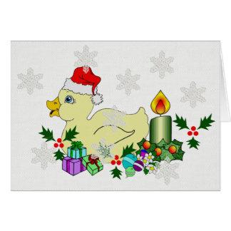 Christmas Duckie Card