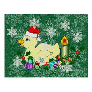 Christmas Duckie Postcard