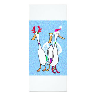 Christmas ducks party card