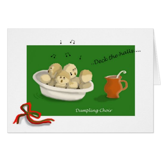 Christmas Dumpling Choir Card