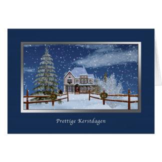 Christmas, Dutch, Prettige Kerstdagen Card