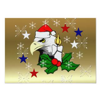 """Christmas Eagle 5"""" X 7"""" Invitation Card"""