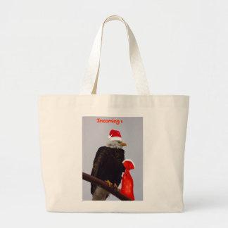 Christmas eagle shopping bag