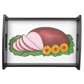 Christmas Easter Glazed Holiday Ham Dinner Tray