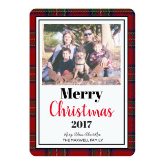 "Christmas Editable Photo Card 5""x7"" With Envelopes"
