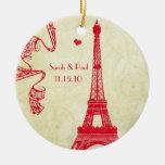 Christmas Eiffel Tower Christmas Ornaments