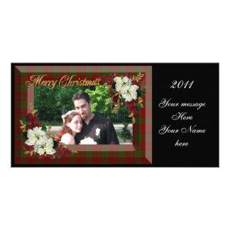 Christmas elegance plaid photo card