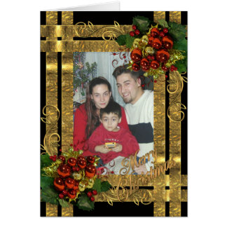 Christmas elegant full size card for your photo