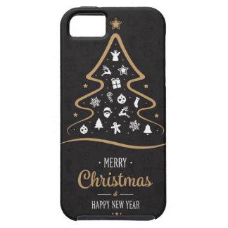 Christmas Elegant Premium Black Gold iPhone 5 Covers