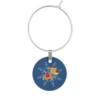 Christmas Elements Wine Charms