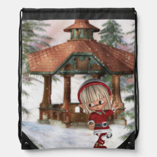 Christmas Elf at North Pole Backpack