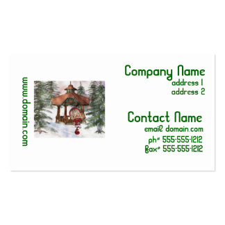 Christmas Elf at North Pole Business Cards