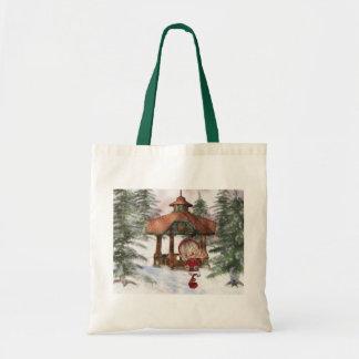 Christmas Elf at North Pole Small Tote Bag
