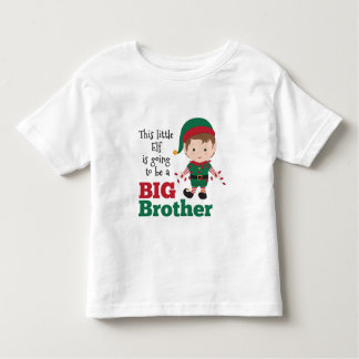 Christmas Elf Big Brother Announcement Toddler T-Shirt