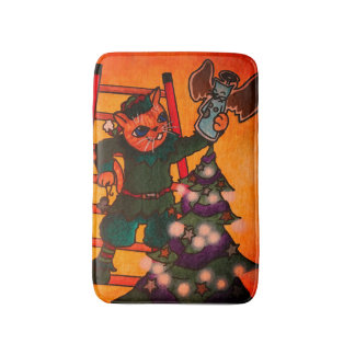 Christmas Elf Cat Bath Mat