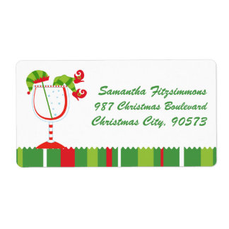 Christmas Elf Cocktail Shipping Label