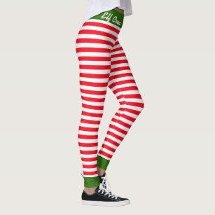 a347c52cc87b8 Christmas Elf Crew Leggings Customize Santa Helper