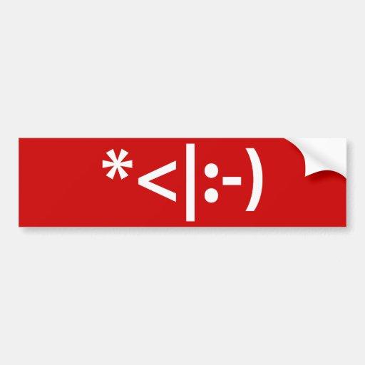 Christmas Elf Emoticon Bumper Sticker