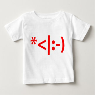 Christmas Elf Emoticon Xmas ASCII Text Art Baby T-Shirt