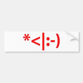 Christmas Elf Emoticon Xmas ASCII Text Art Bumper Stickers