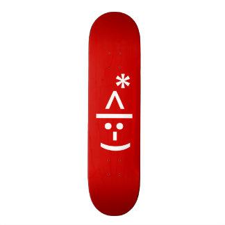 Christmas Elf Emoticon Xmas ASCII Text Art Skate Deck