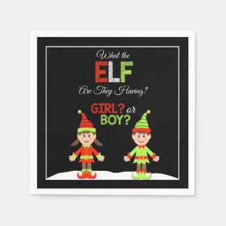 Christmas Elf Gender Reveal Napkins Disposable Napkin