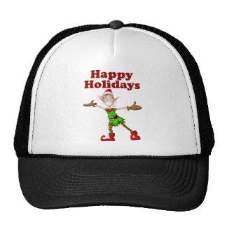 Christmas Elf Happy Holidays Cap