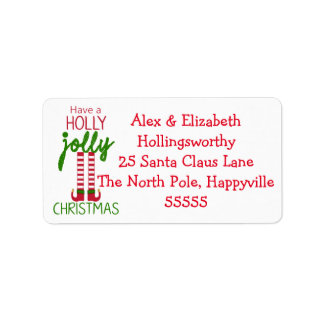 Christmas Elf  - Have A Holly Jolly Christmas Label